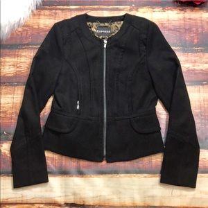 Express Black Moto Style Jacket Coat